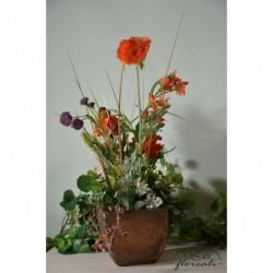 Kompozycja z kwiatów polnych