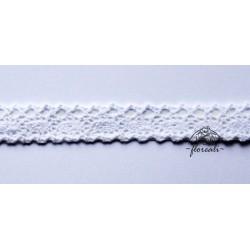 Koronka biała bawełniana - 1m