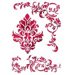 Szablon dekoracyjny format a4